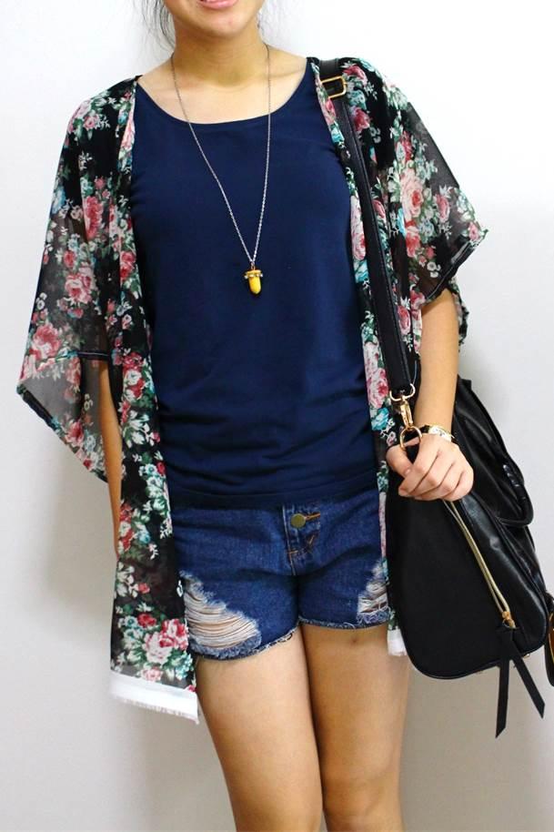 DIY | 1 hour Kimono Cardigan | PEABRAIN DIY